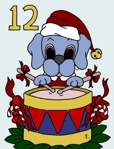 Dreamee Dog celebrates the twelve days of Christmas!