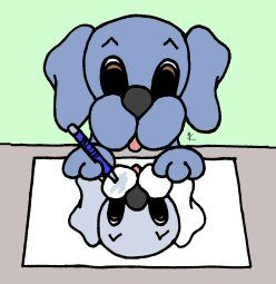 Help Dreamee Dog color. Click on me for more coloring fun!