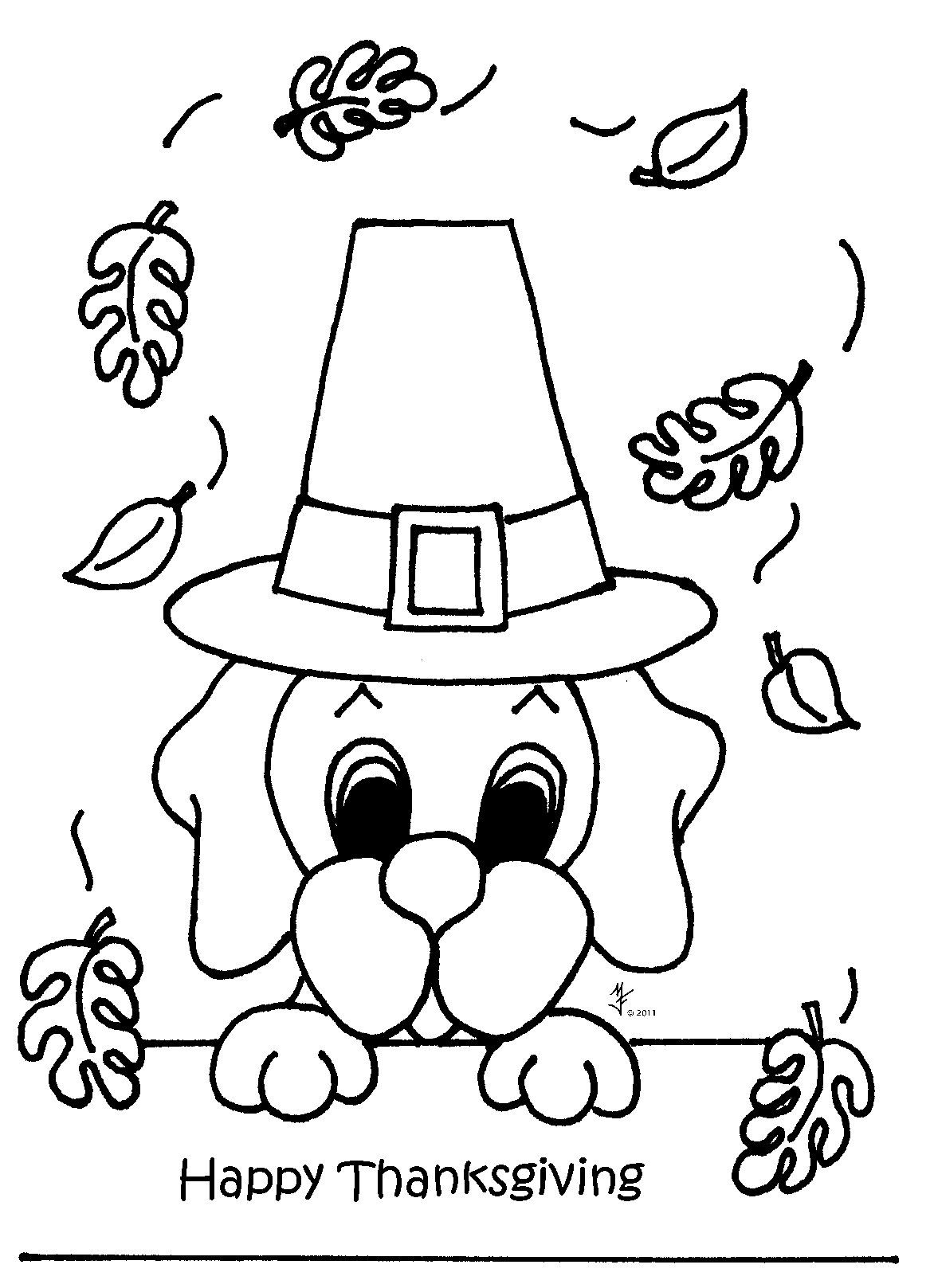 dog thanksgiving coloring pages - photo#1