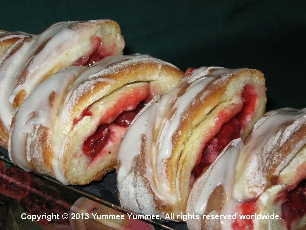 Cherry Cheese Danish Loaves