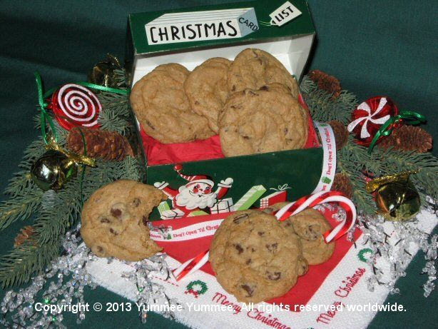 Santa has sent in a request; Chocolate Chip Cookies.