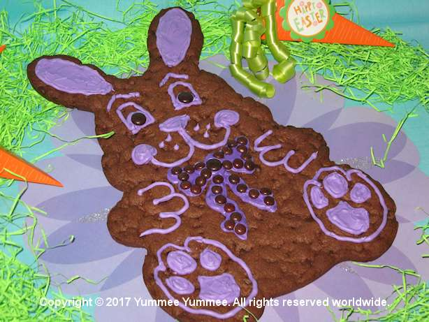 Any bunny can make this giant bunny cookie. You do need the special pan and press in the cookie dough.