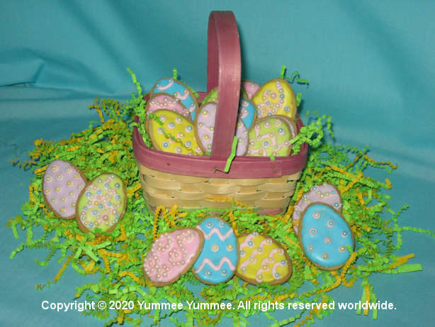 Sugar cookie eggs are the star of the Easter table.