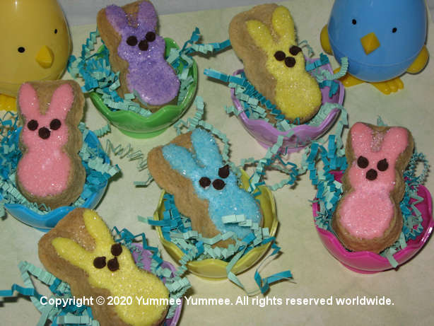 These Peeps hatched out! Make with our Cookie Pan Sugar Cookies recipe.