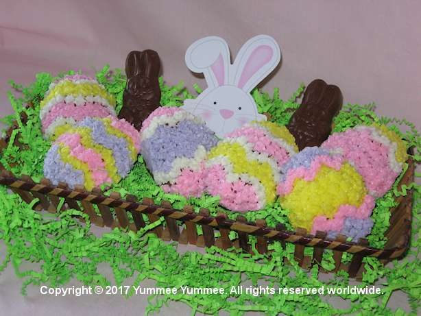 Kids will love these egg-shaped Carrot Cake cupcakes decorated as Easter eggs. Watch the chocolate bunnies' ears!